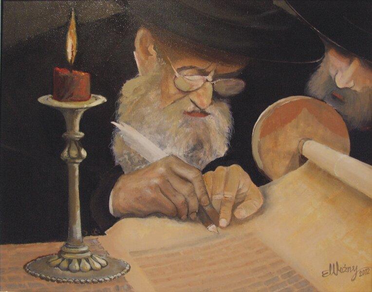 Żyd przepisujący torę