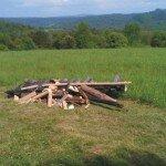 Pozostała po nas spora kupa drewnianego złomu