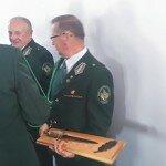 Z kordelasami łowczy Henryk Mazurek i prezes Edward Leja