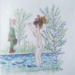 """Jedna z woelu ilustracji książki """"MIREK"""""""