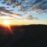 Zachod slońca w Bieszczadach